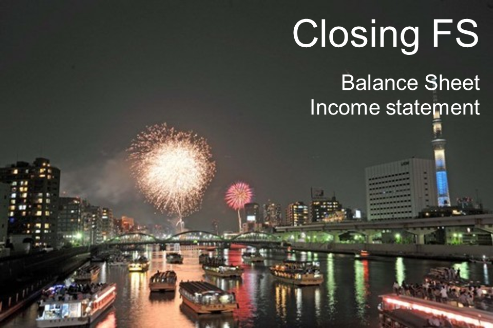 Closing-FS, Accounting ABC in Japanese