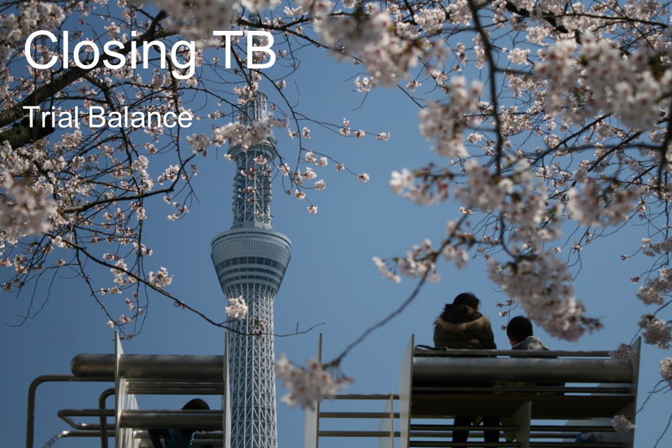 Closing-TB, Accounting ABC in Japanese