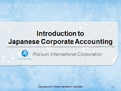 introduction to Japanese accounting